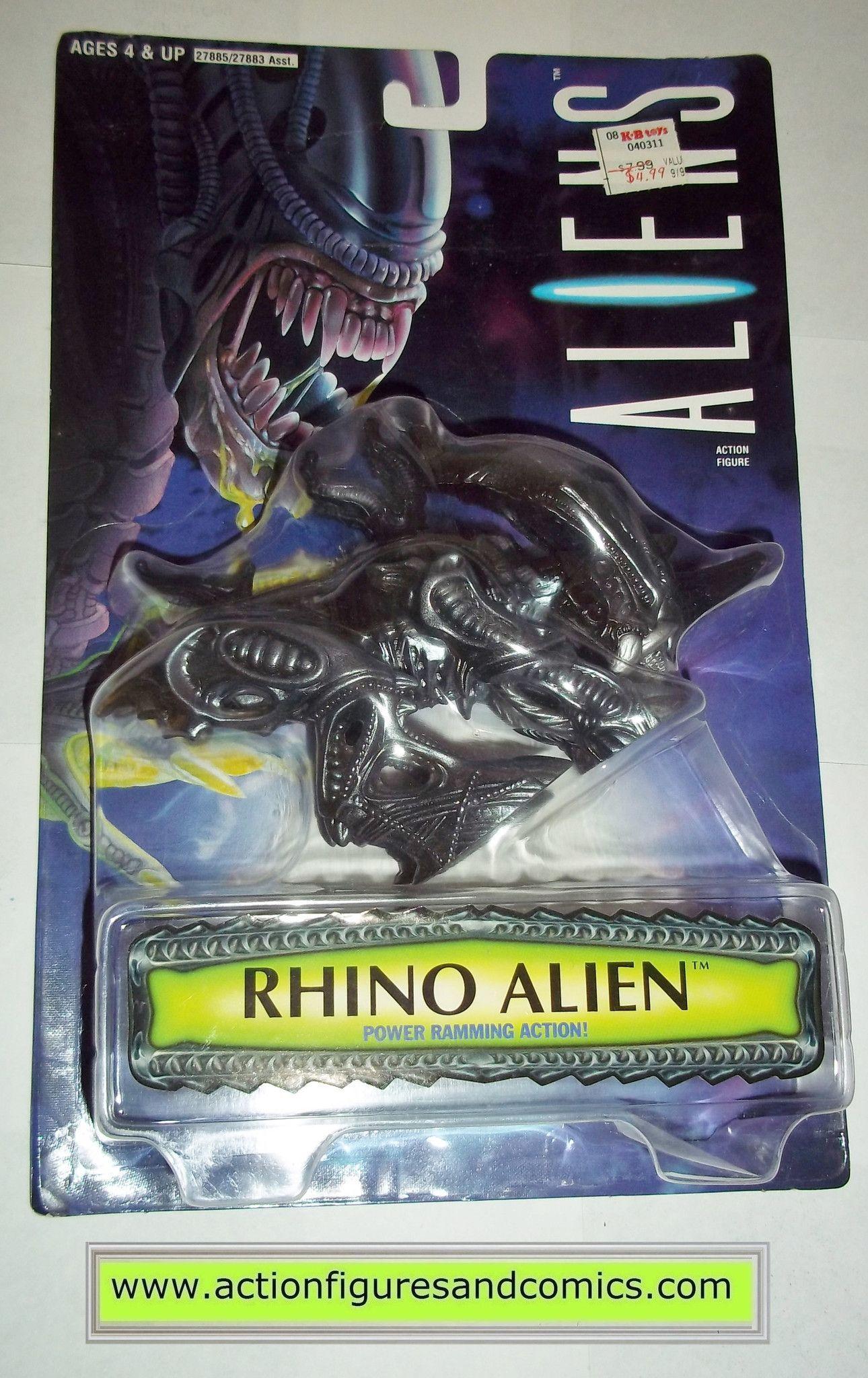 aliens vs predator kenner RHINO ALIEN 1996 KB toys movie moc mip mib action figures