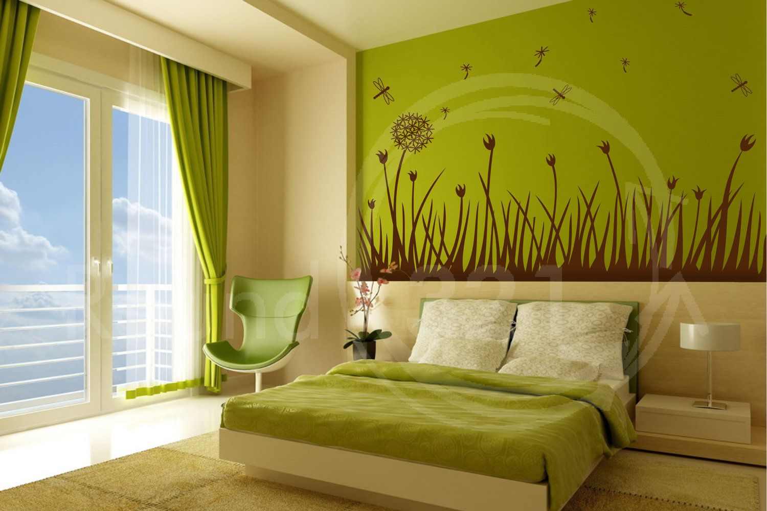 Wall Decal for The Home With Dandelion & Fireflies by Round321 ...