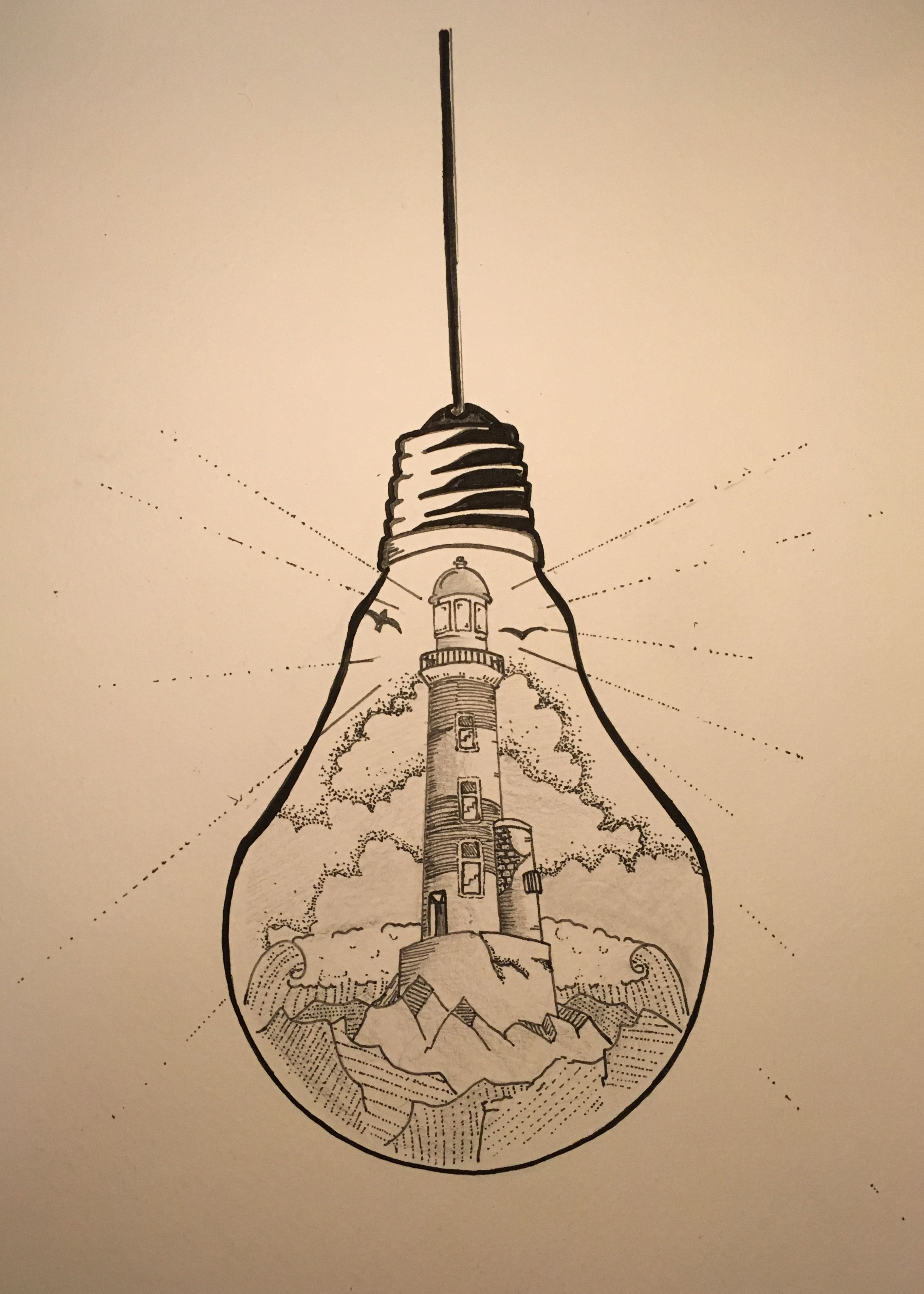 what if there was a tiny lighthouse inside of every light bulb