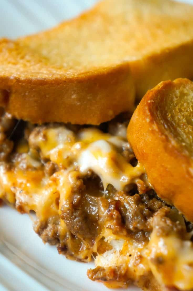 Bacon Cheeseburger Grilled Cheese Casserole - This is Not Diet Food