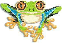 Tree Frog Pattern by Megan's Beaded Designs Lots of Free Beading Patterns and Tutorials!