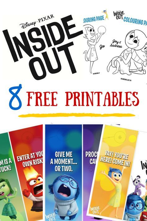 Disney Pixar Inside Out Review Printable School