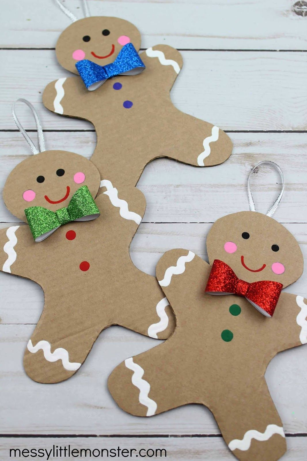 Cardboard Gingerbread Man Craft (template included) Man