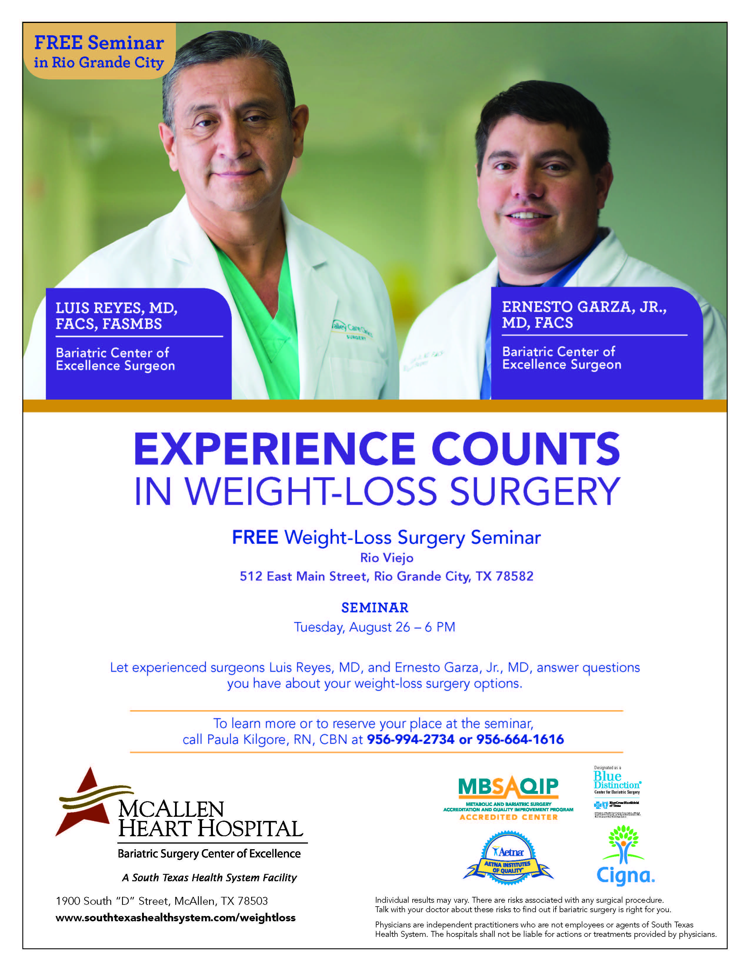 Dr Luis Reyes And Dr Ernesto Garza Surgeons With The Valley Care
