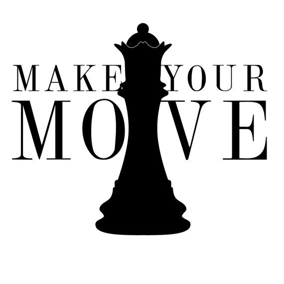 3f2742b2 Make Your Move Chess Quote - Wall Decal Custom Vinyl Art Stickers ...