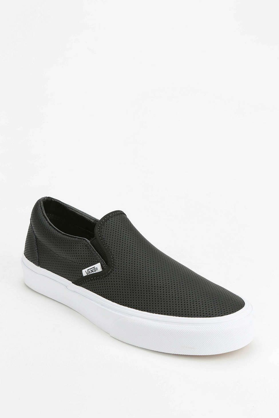 c1df3d00cb Vans Perforated Leather Womens Slip-On Sneaker - Urban Outfitters