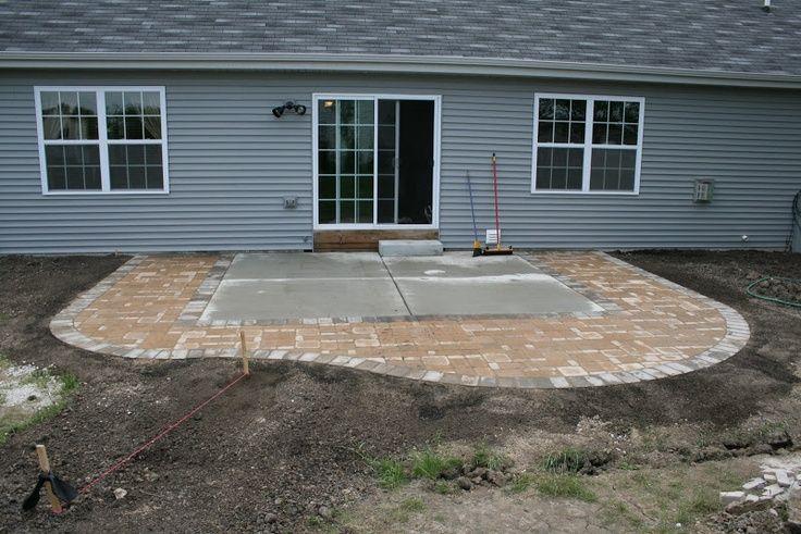 extending concrete patio with pavers