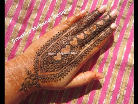 Mehndi For Shrimant : Youtube unique heart shape strip henna mehndi design