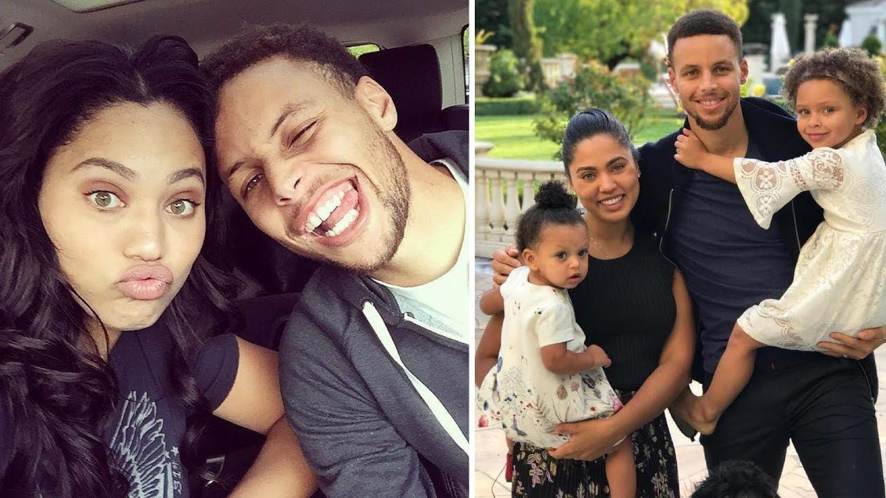 9c7de3475bd Stephen Curry's Wife Ayesha Curry and Daughters Riley and Ryan Curry Golden  State Warriors point guard