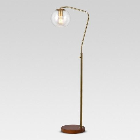 Mid century · light up your living room or cozy reading nook with this menlo glass globe floor lamp