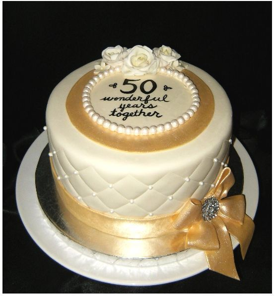 50th wedding anniversary square cakes designs