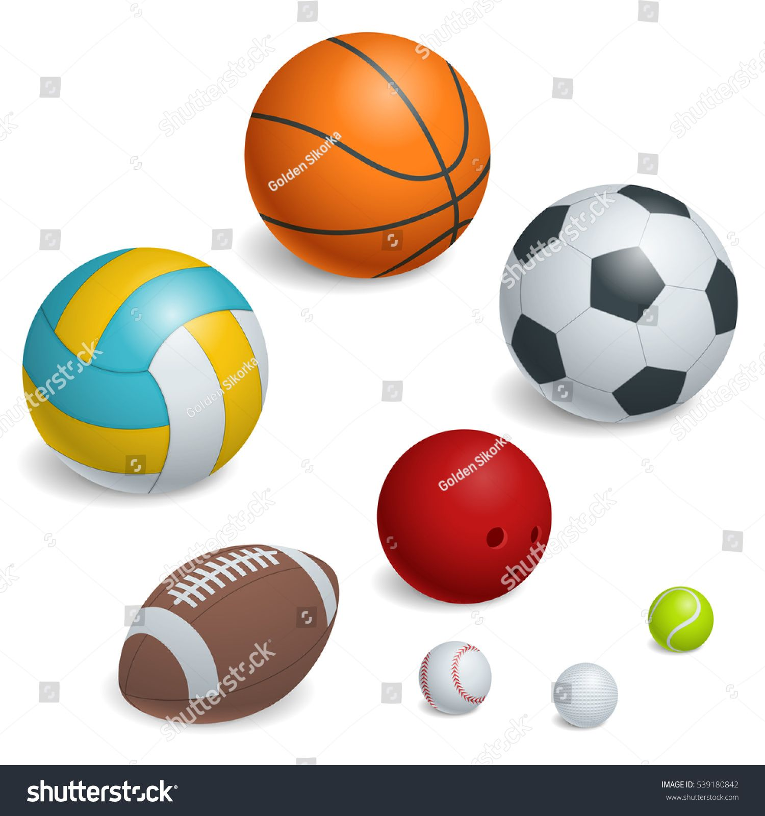 Isometric Sports Balls Set Illustration Of A Set Of Popular Sports Balls And Bowls Equipment For Football Soccer Rugby Tennis Sports Balls Ball Isometric