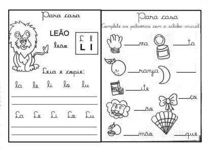 Atividades Com A Letra L Para Imprimir Ditado Letra L