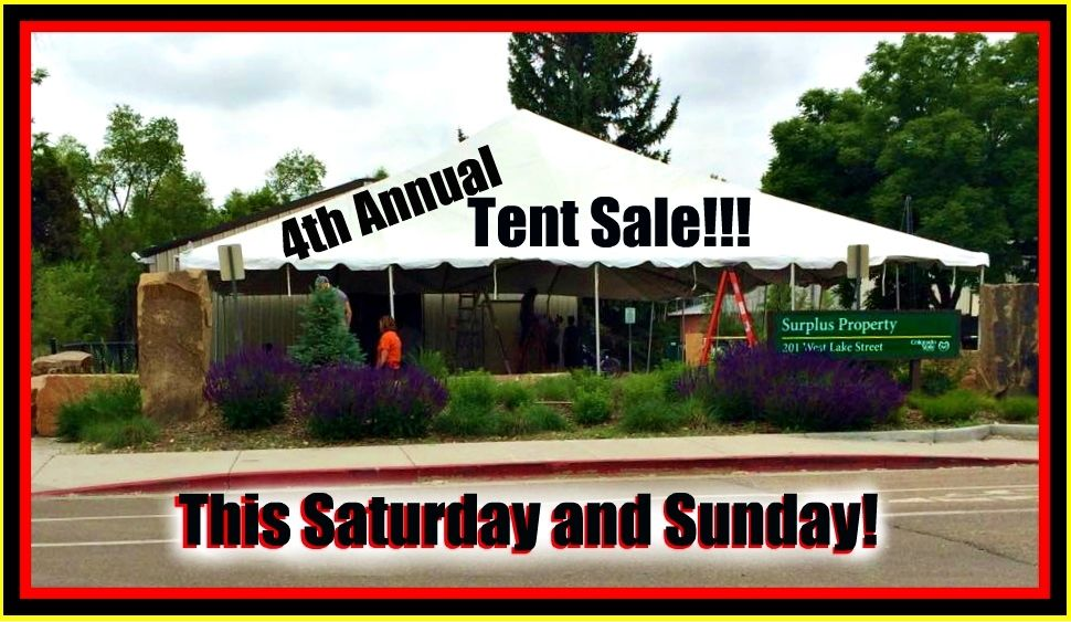 We're getting set up to throw our best tent sale yet! Just 5 more days!
