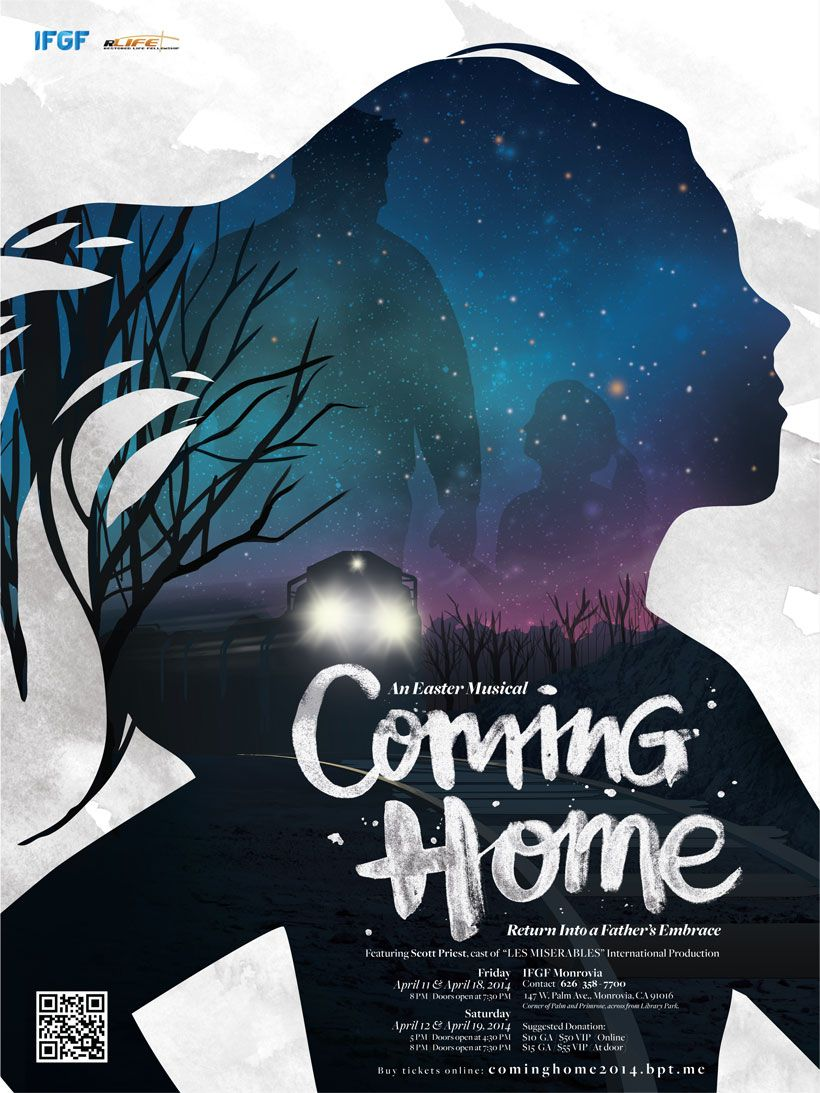 """Coming Home"" IFGF Los Angeles Musical Production Poster"