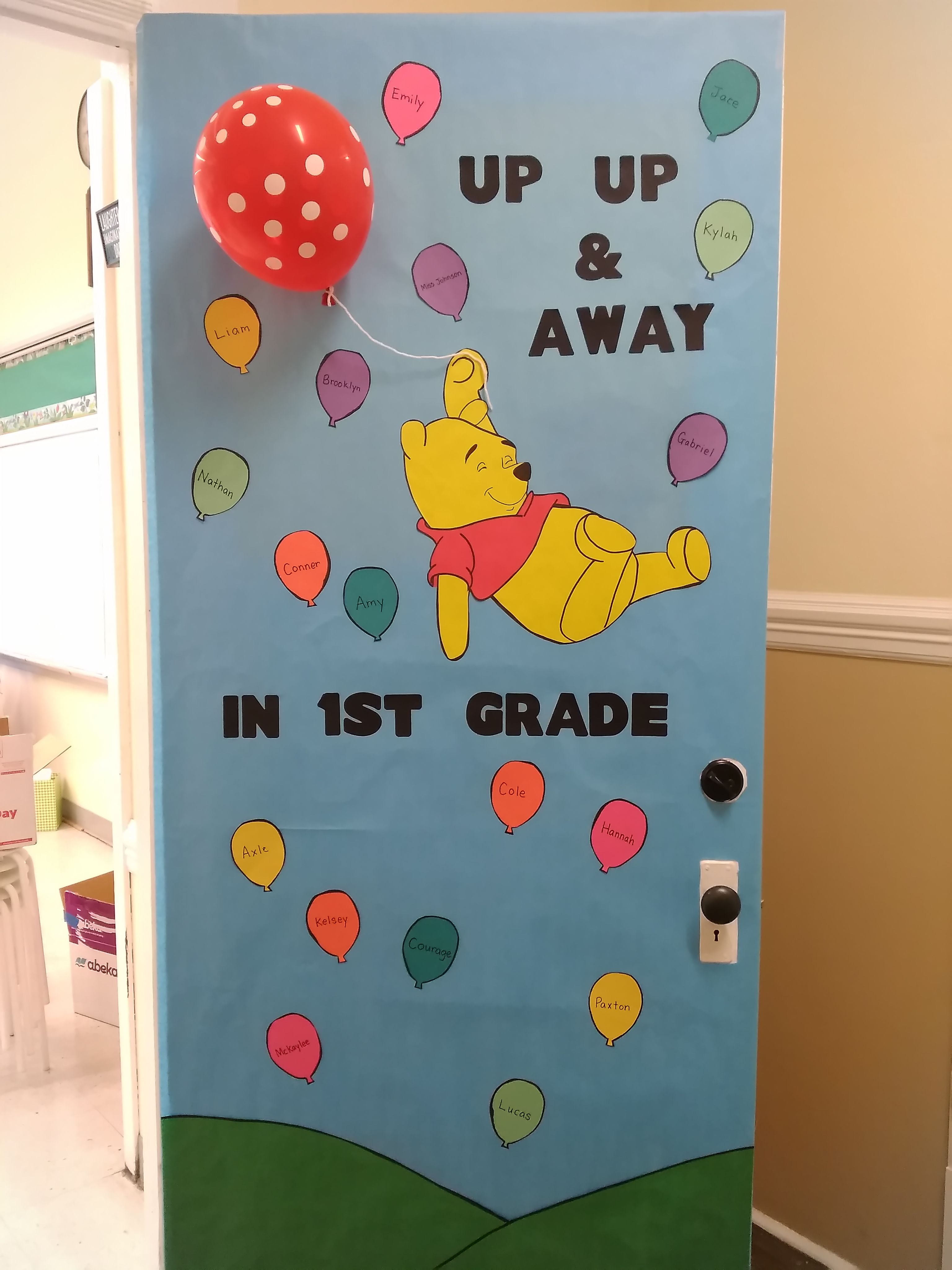 The Cutest Winnie The Pooh Classroom Door Ever