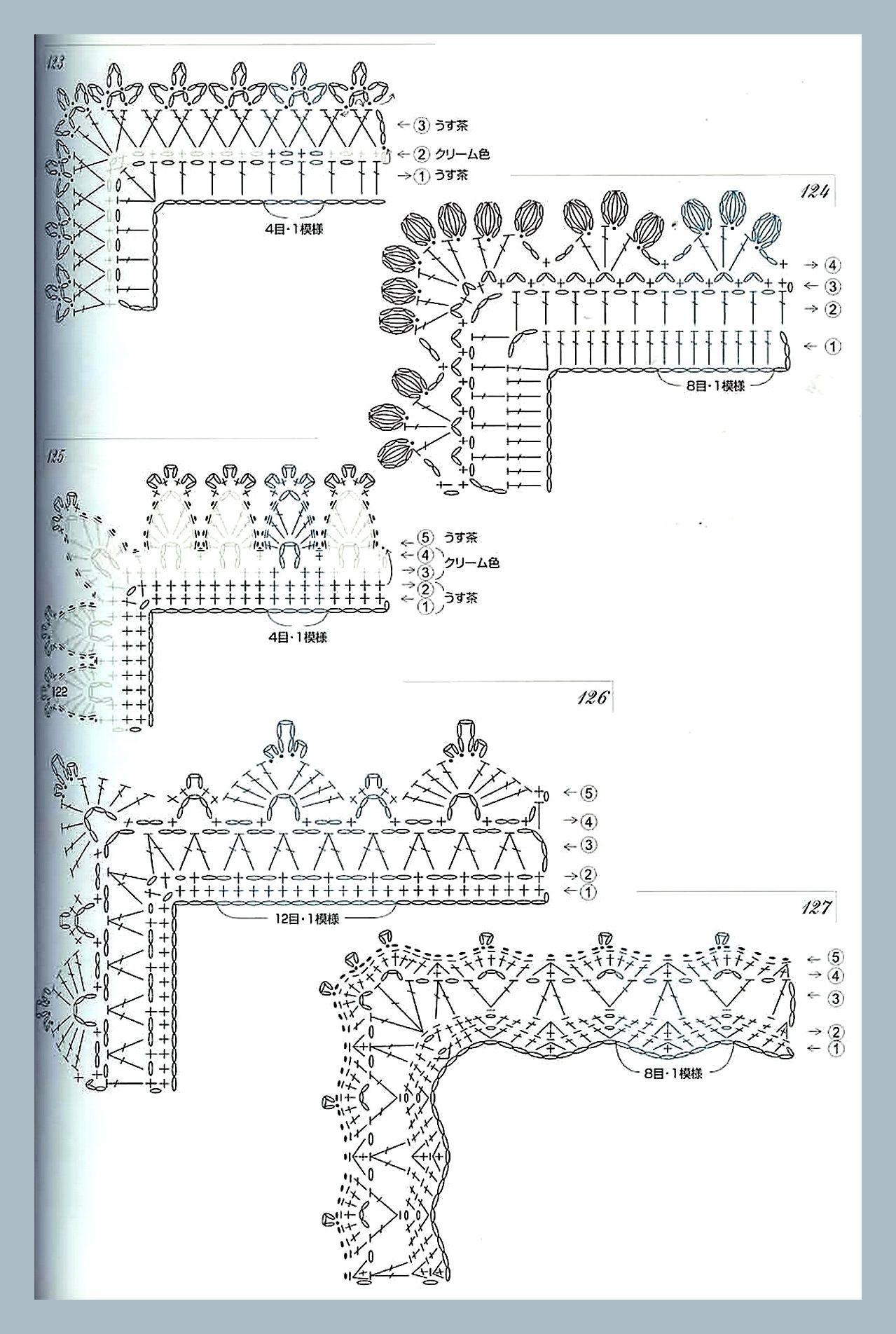 кружева - край | Puntas crochet | Pinterest | Puntadas, Mantel y ...