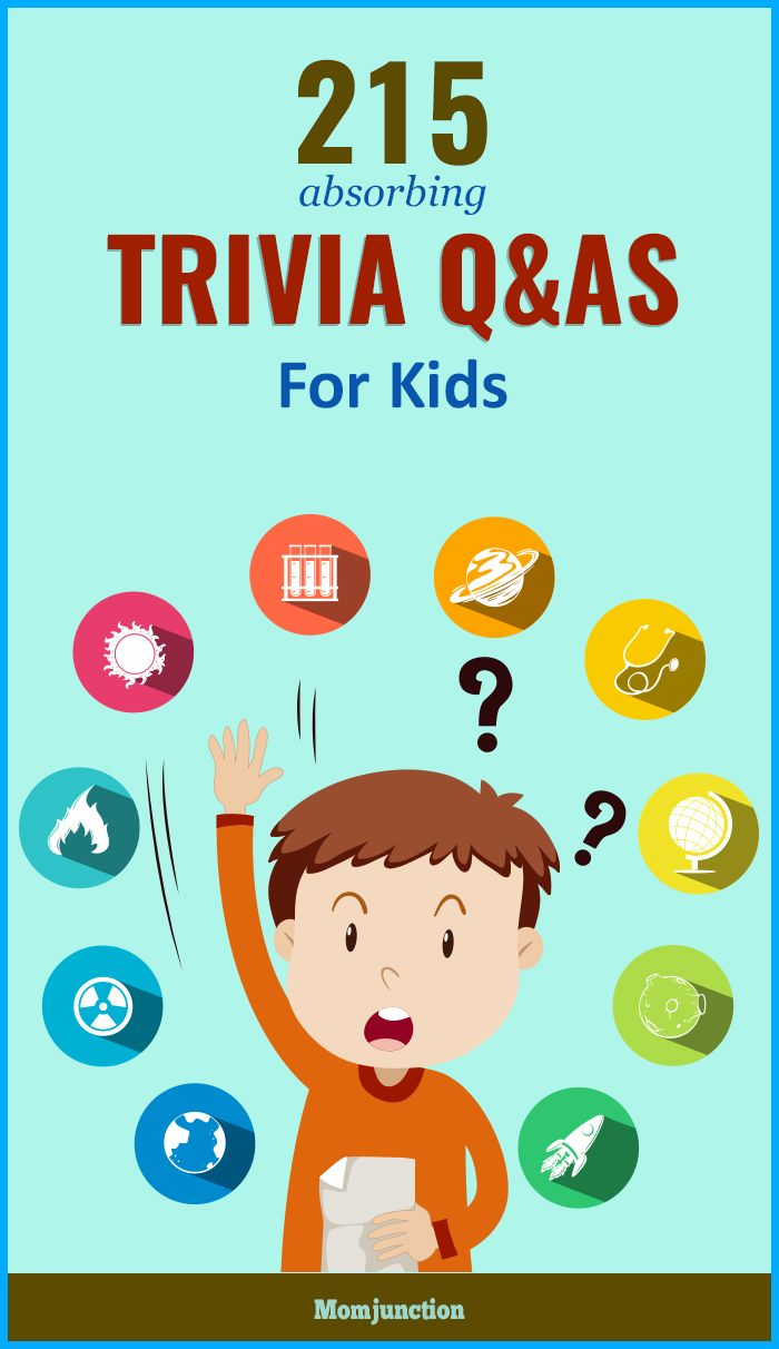 215 Easy Trivia Questions For Kids With Answers | Trivia ...