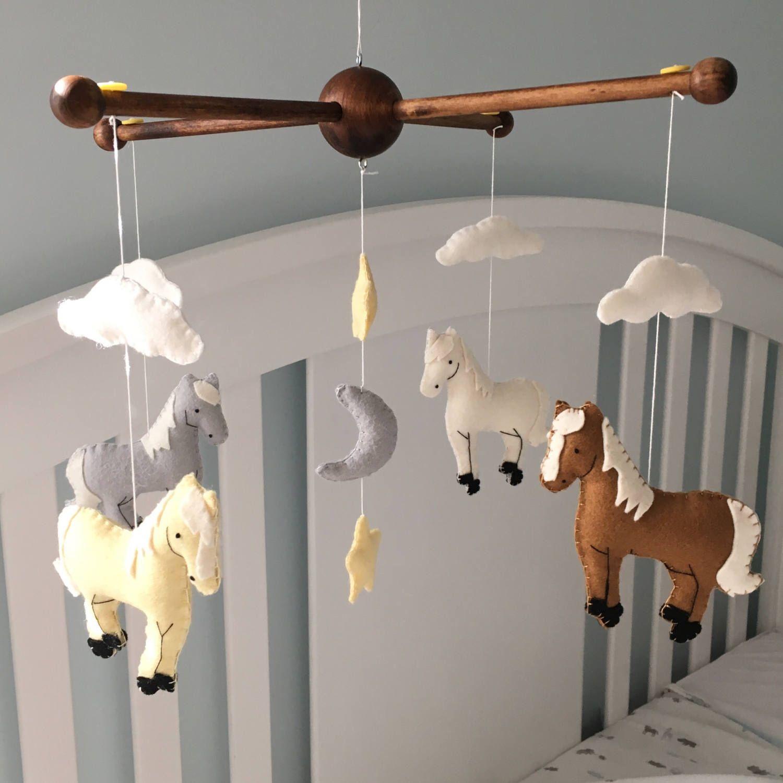 Horse Nursery Mobile Baby Equestrian