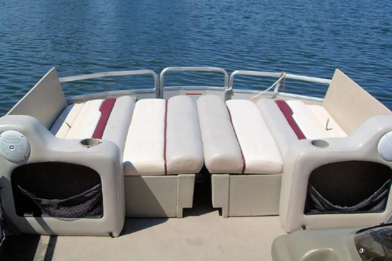 Pontoon seat that converts to a bed boat pinterest for Pontoon boat interior designs