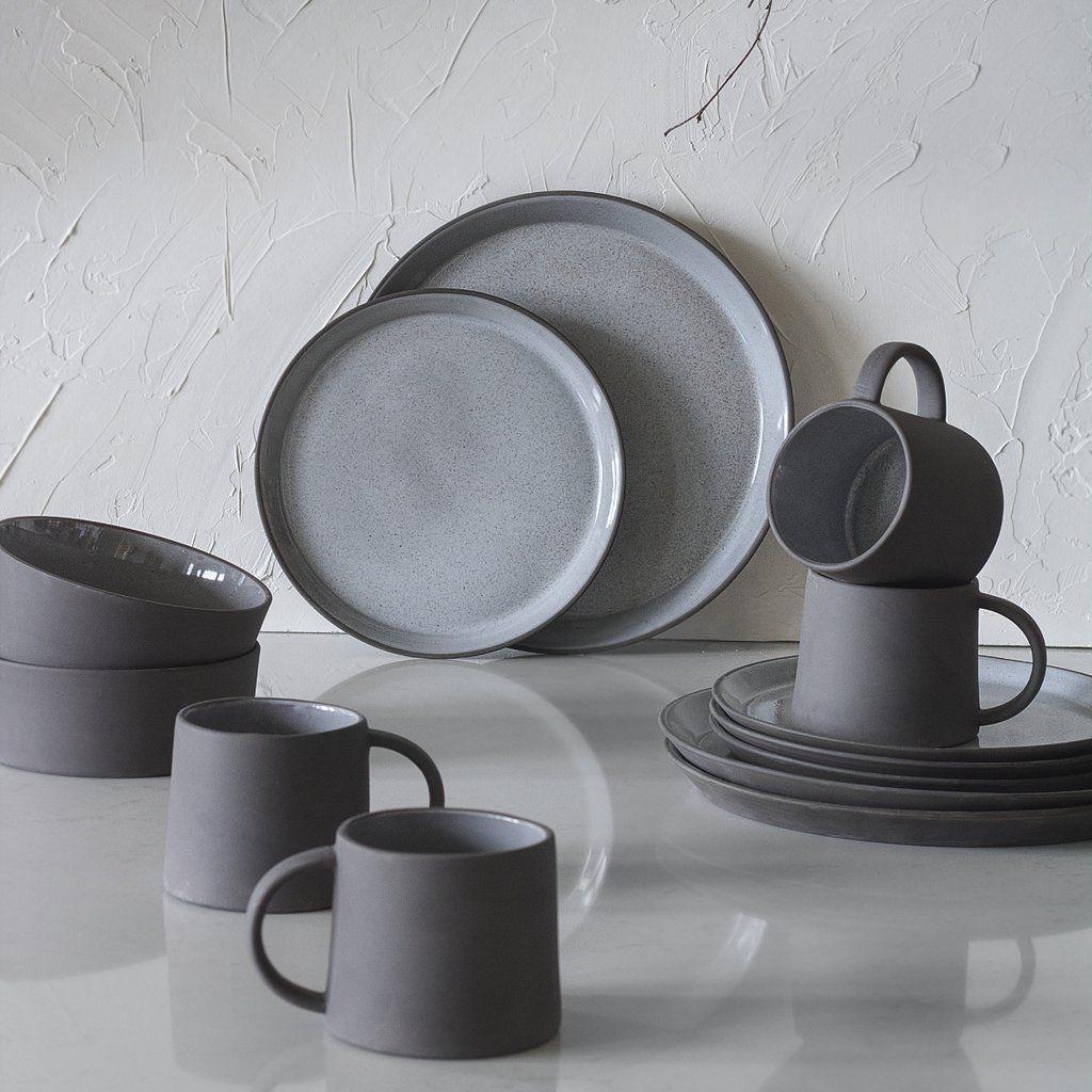 Aska Nordic Dinnerware Set 16 Piece Grey Vaunt Design In 2020 Everyday Dinnerware Set Modern Tableware Dinnerware Set Unique