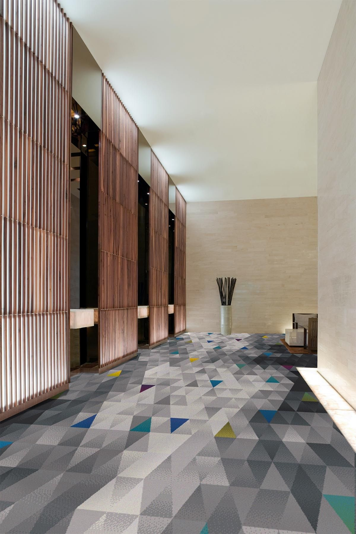 Ceramic Tile Herringbone Pattern Hotel Carpet Floor Design