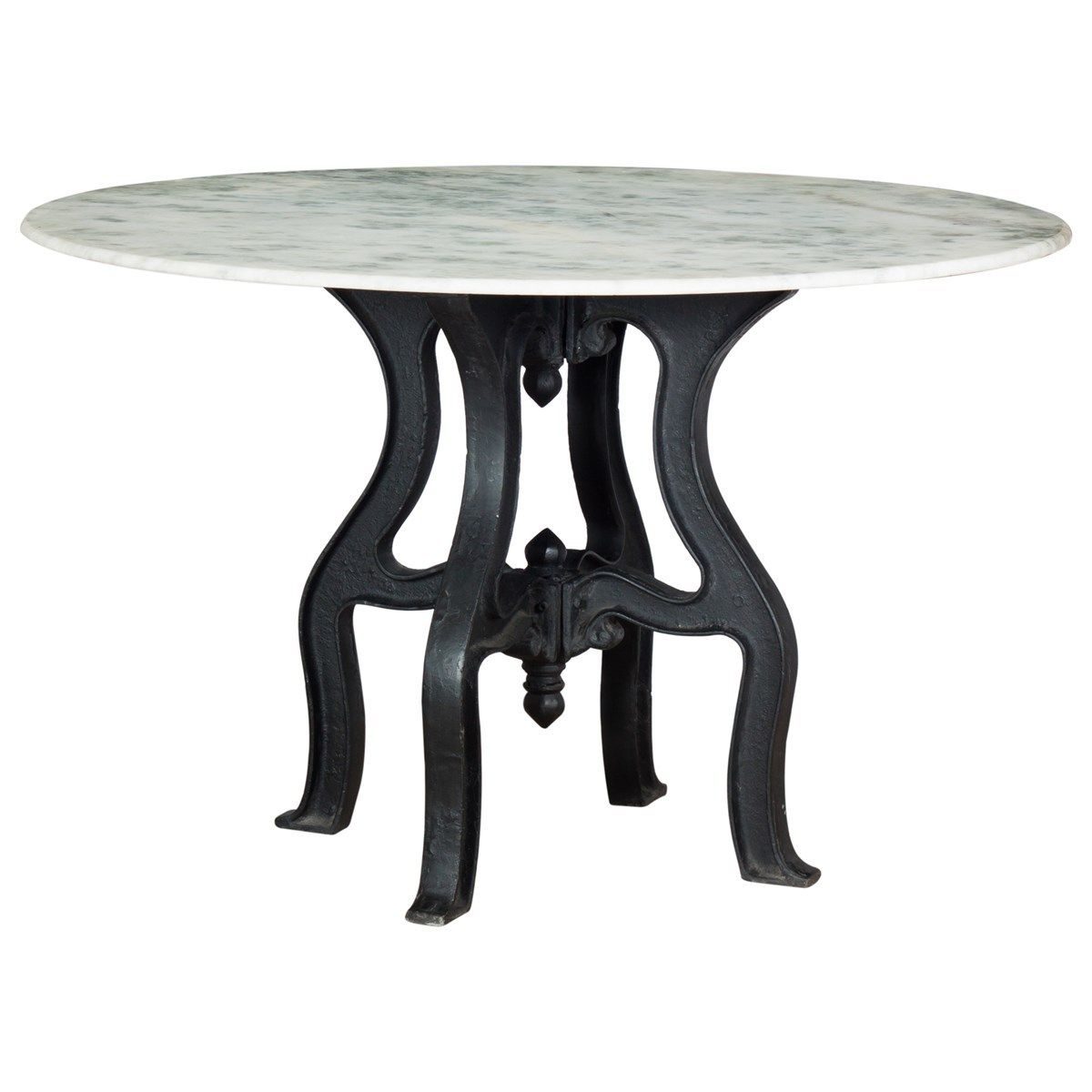 alondra classic cast iron marble round dining table round dining tables round dining and dining tables: round white marble dining table