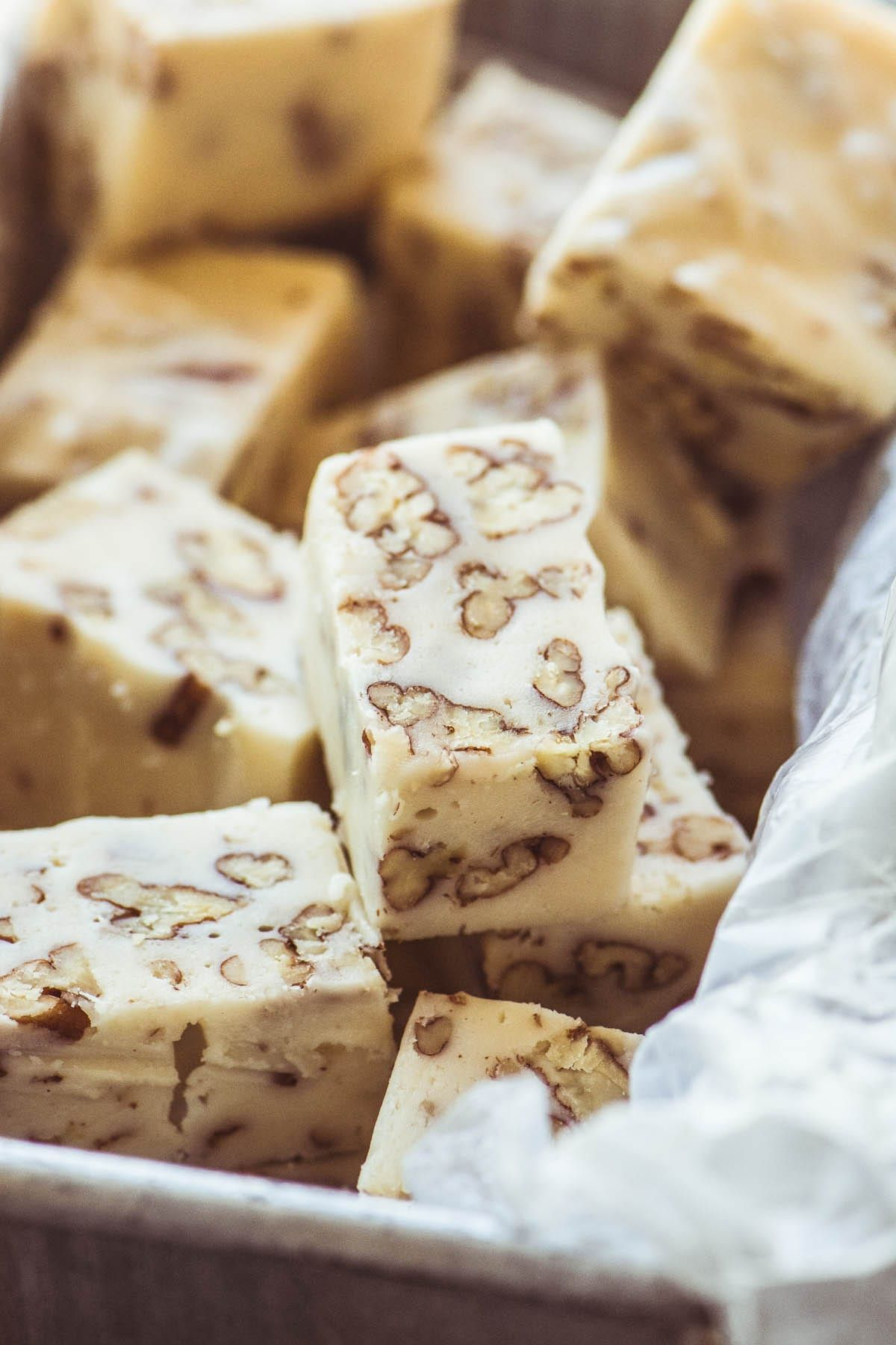Pecan Buttermilk Fudge This Creamy White Fudge Has Got A Sweet Tangy Flavor Like Nothing Else I Ve Ever Tast With Images Buttermilk Fudge Recipe Fudge Recipes Fudge Easy