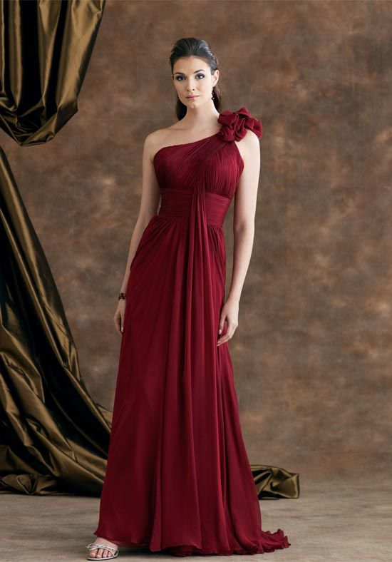 9d1696e1a3f Absorbing One Strap Pleated Empire Waist A-line Mother Bride Dress (MBD-231)