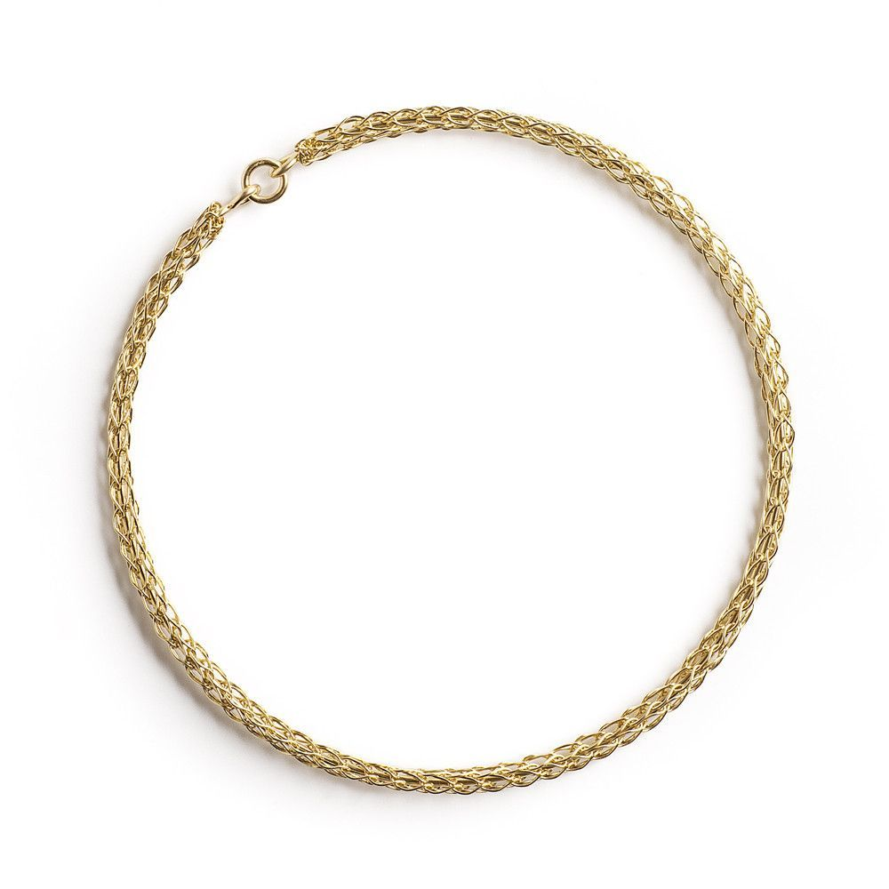 Gold bangle bracelet , wire crocheted bangle | Wire crochet, Gold ...