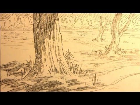 Pin By Remy Jacobi On Drawing Tutorials Landscape Drawings Landscape Painting Tutorial Forest Drawing