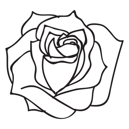 Blooming Rose Stroke Icon Flower Ad Aff Ad Rose Flower Icon Blooming In 2020 Blooming Rose Flower Png Images Rose Drawing
