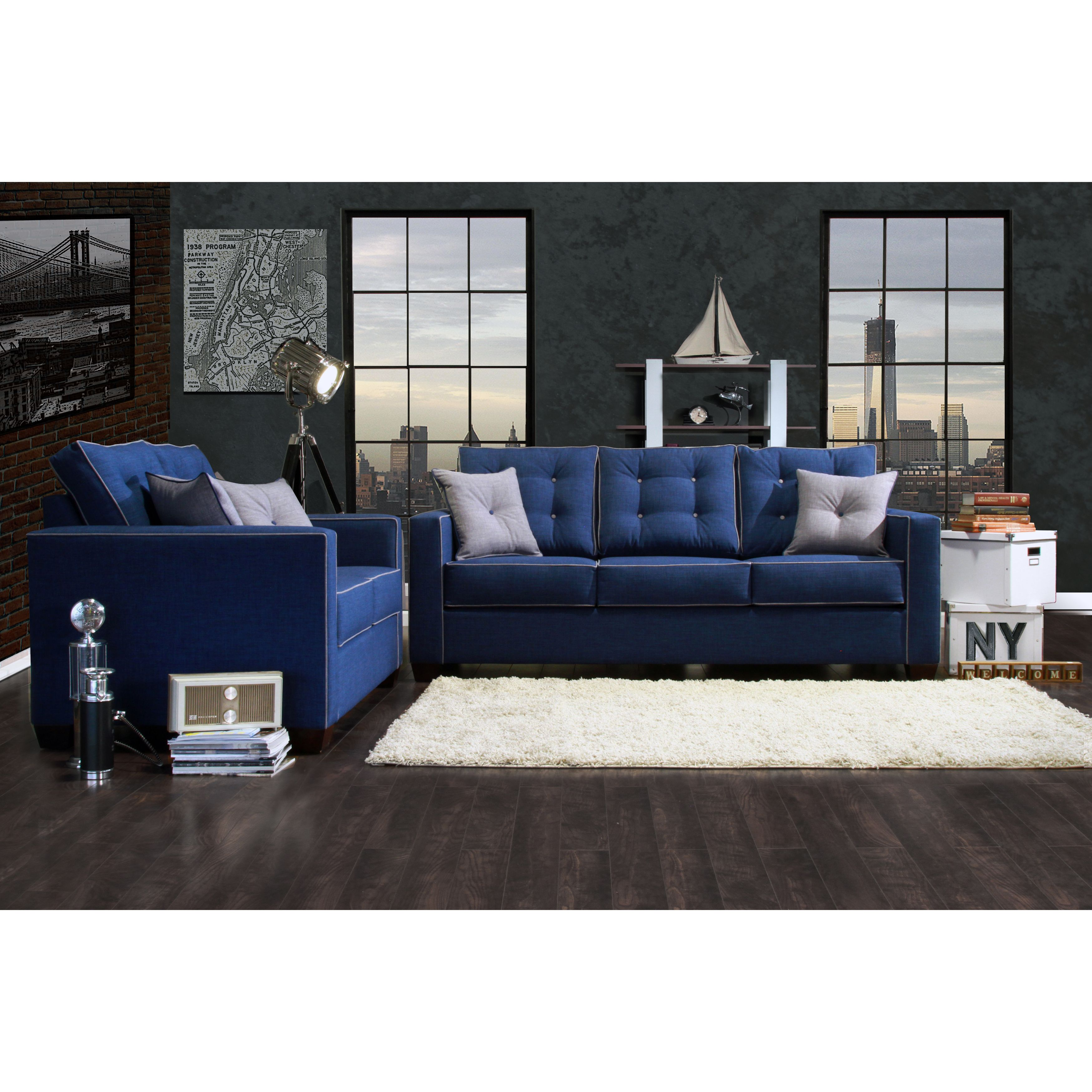 Furniture Of America Lennons Urban Upholstered Sofa Set Ping Great Deals On Sofas Loveseats