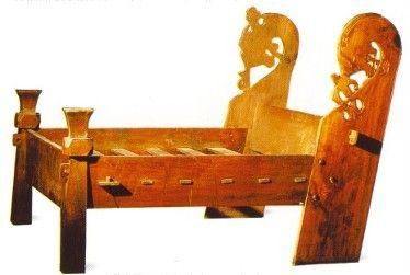 Viking Slat Bed Based On The Oseberg And Gokstad Beds Viking