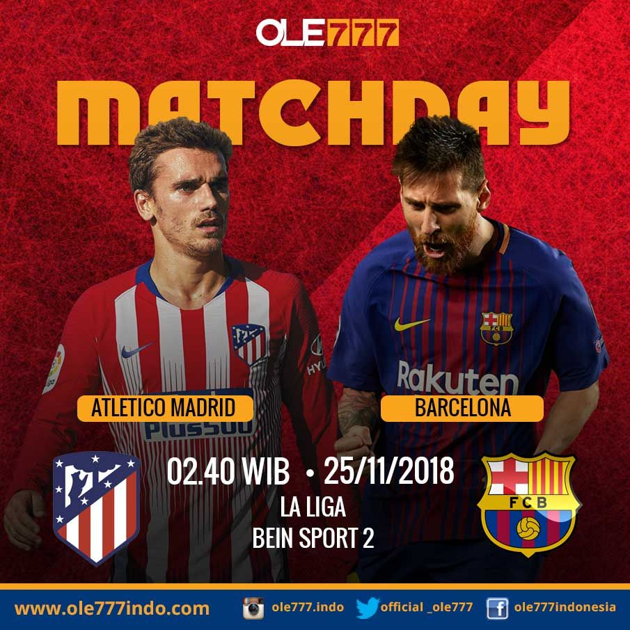 SAKSIKAN PERTANDINGAN LA LIGA ATLETICO MADRID vs BARCELONA