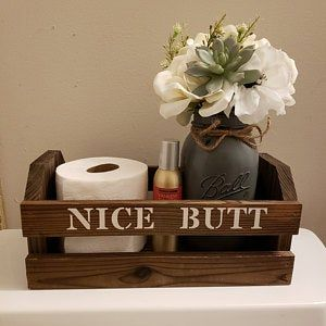 Funny Bathroom Decor, Rustic Bathroom Decor, Toilet Paper ...