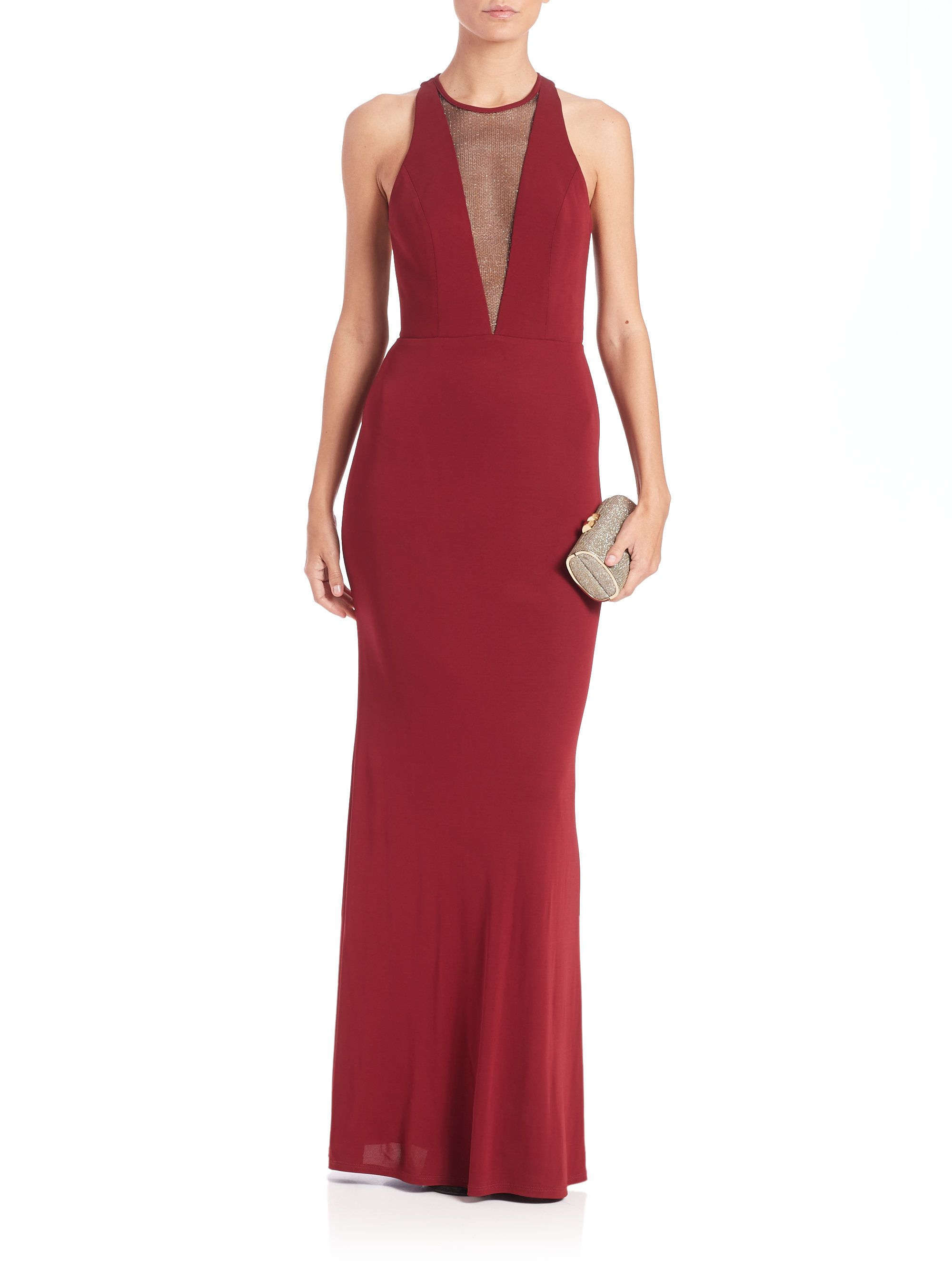 abs-marsala-cutout-jersey-deep-v-neck-gown-product-1-510688680 ...