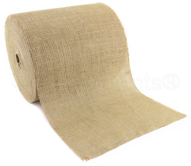 Amazon Com Cleverdelights 12 Natural Burlap Roll 100 Yards Eco Friendly Jute Burlap Fabric 12 Inch Burlap Rolls Burlap Fabric Rustic Wedding Diy