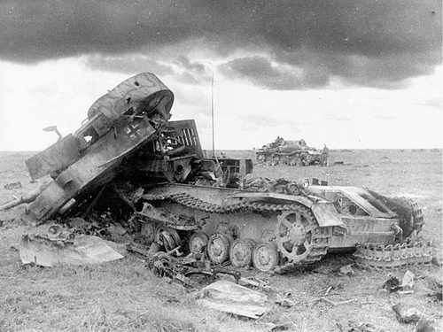 A internal explosion decimated this Panzer 4 during fighting