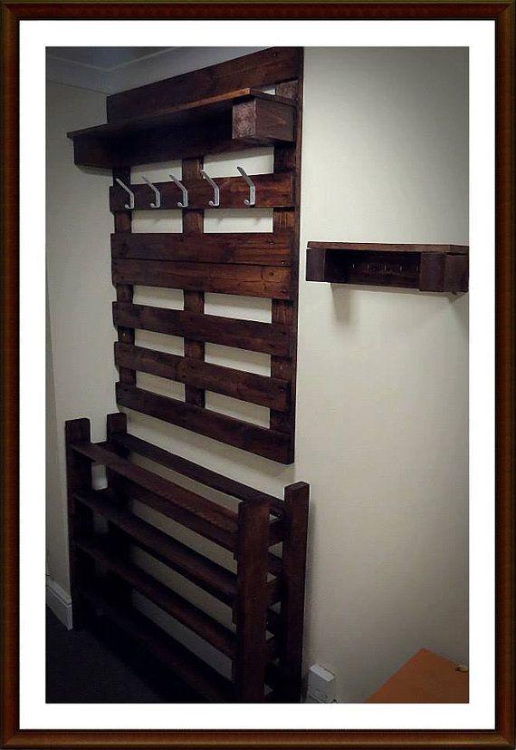 coat rack and shoe storage hallway hanger with storage. Black Bedroom Furniture Sets. Home Design Ideas