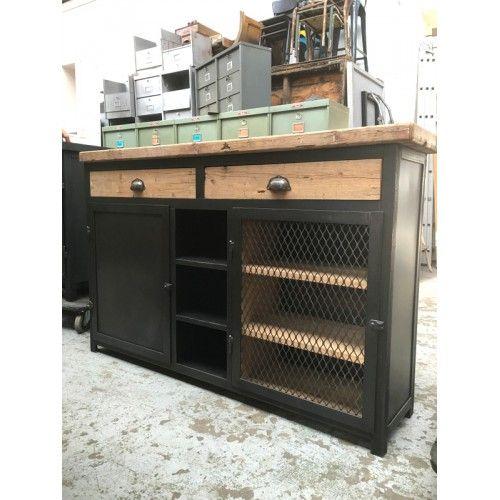 Vaisselier Style Industriel: Exemple Fabrication Buffet Industriel