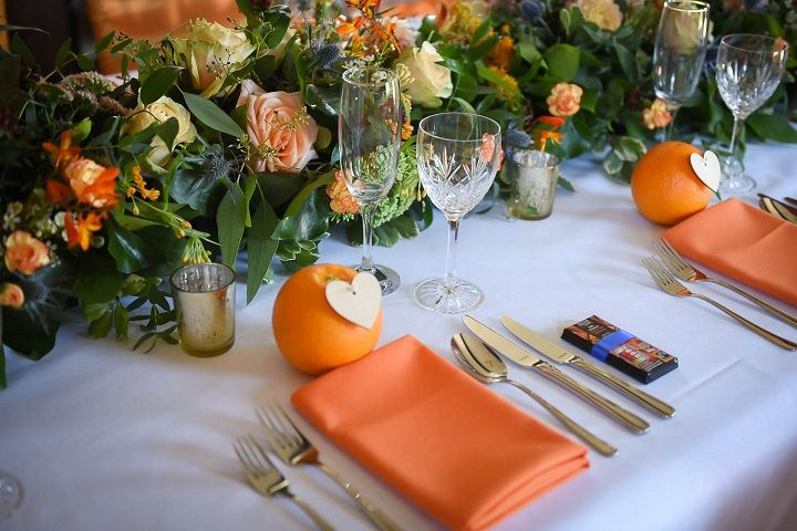 Orange Crush Styled Shoot Inspired by California { Sunshine twist on a fall wedding }