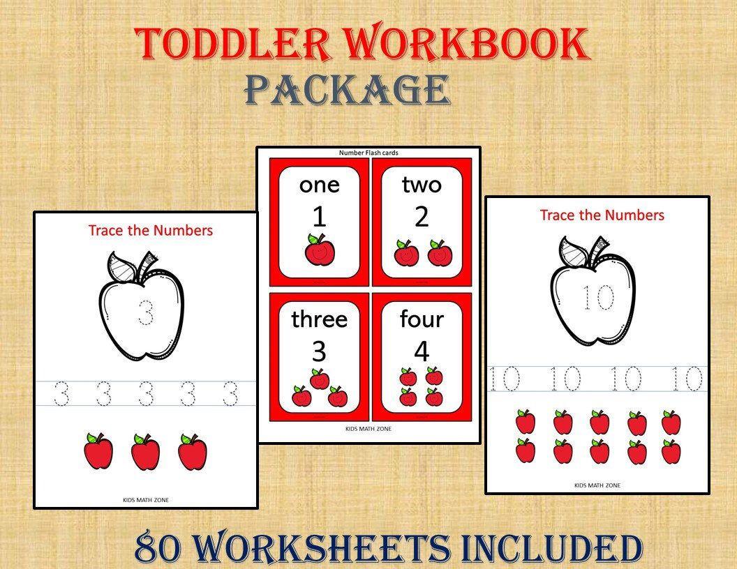 Toddler Workbook 80 Printable Worksheets Kids Activities Etsy Preschool Learning Preschool Workbooks Free Preschool Printables