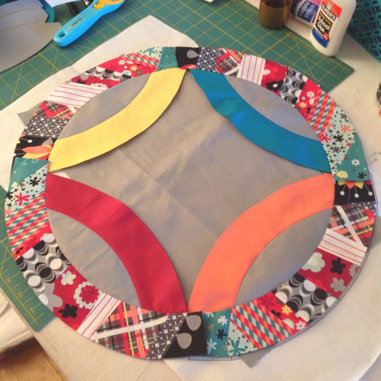 Easy Double Wedding Ring Quilt Pattern | Double wedding rings and ...