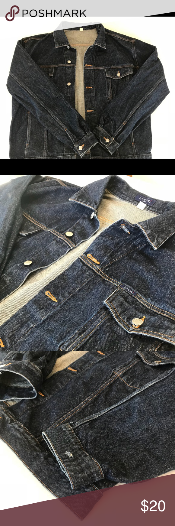 Men Guess jean jacket Men's size XXL *Small hole on wrist
