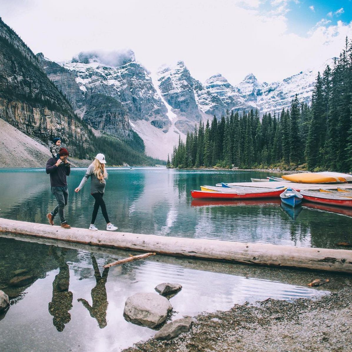 Lakes In Bc Canada: Moraine Lake - Barefoot Blonde By Amber Fillerup Clark