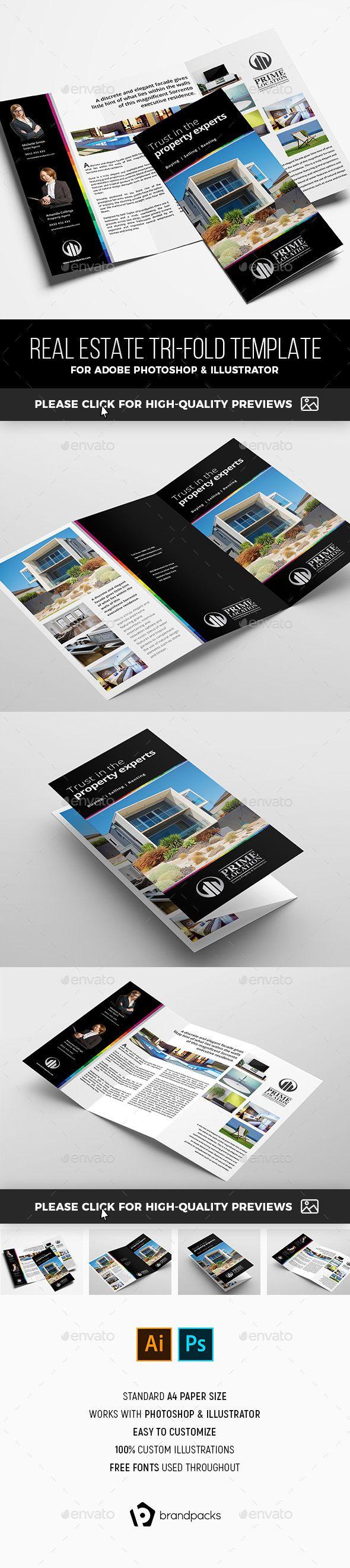 real estate tri fold brochure template corporate brochures