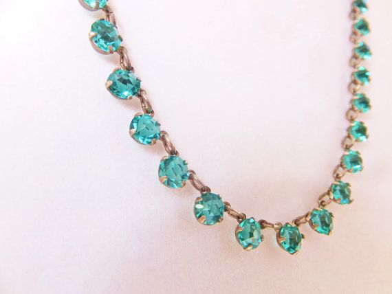 Vintage Glass Bead Necklace 1930s Art Deco by ClassicKarma on Etsy, $43.00
