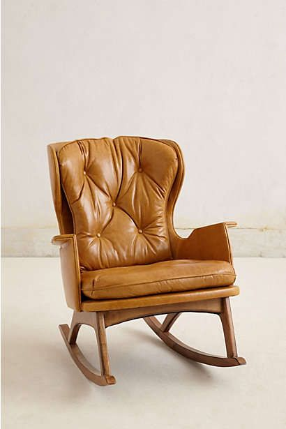 Rocking Chair, Leather Baby Rocking Chair