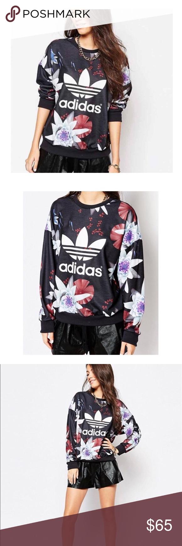 Adidas Limited Edition Lotus Black Sweatshirt Black Sweatshirts Clothes Design Sweatshirts [ 1740 x 580 Pixel ]